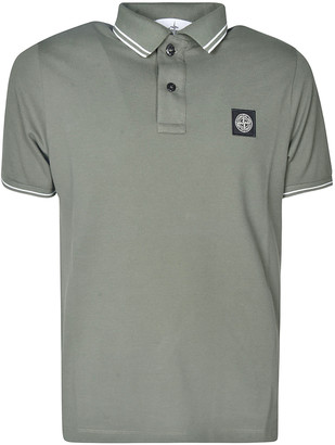 Stone Island Logo Patched Polo Shirt