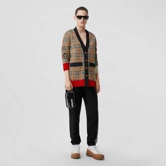 Burberry Vintage Check Merino Wool Blend Jacquard Cardigan