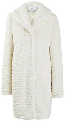Dorothy Perkins Womens Dp Tall White Shawl Collar Coat, White