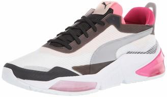 Puma Women's Lqdcell Optic Sneaker White Black-Rosewater Numeric_5_Point_5