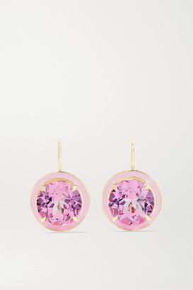 Alison Lou 14-karat Gold, Sapphire And Enamel Earrings - one size