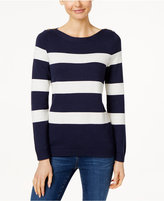 Charter Club Petite Stripe-Stitch Sweater, Only at Macy's