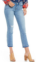 Jessica Simpson Cherish Destructed Release Hem Cropped Jeans