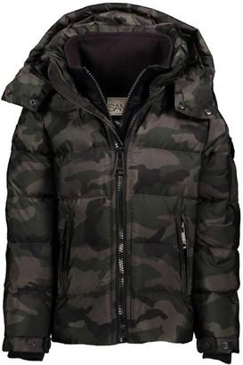SAM. Camouflage Puffer Coat