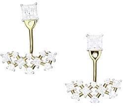Adriana Orsini Women's Verbena 18K Yellow Gold, Rhodium-Plated & Crystal Front Back Earrings