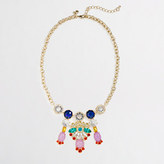 J.Crew Factory Factory multicolor chandelier necklace