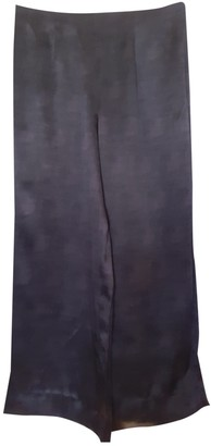 Sand Black Silk Trousers for Women