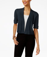 JM Collection Open-Front Button-Sleeve Cardigan, Created for Macy's