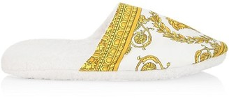Versace Barocco Cotton Slippers