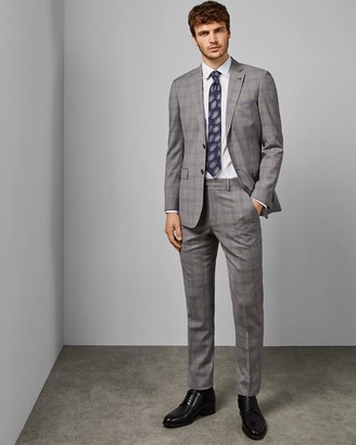 Ted Baker Debonair Slim Fit Check Wool Trousers