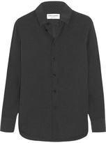 Saint Laurent Polka-dot Silk Shirt - Black