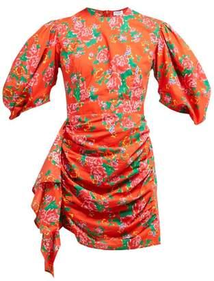 Rhode Resort Pia Floral-print Cotton-poplin Mini Dress - Womens - Red Print