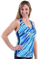 Women's Dolfin Striped Racerback Tankini Top