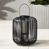 CB2 Kini Large Black Rattan Latern