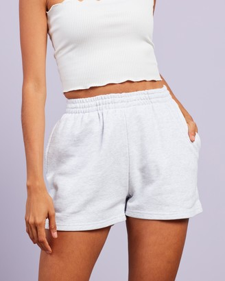 Dazie - Women's Grey High-Waisted - Chill Out Sweat Shorts - Size 6 at The Iconic