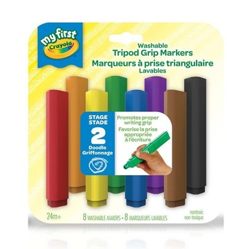 Crayola My First Washable Tripod Grip Markers