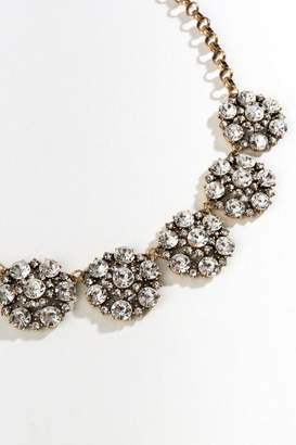 francesca's Nove Crystal Flower Statement Necklace - Crystal