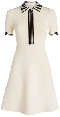 Sandro Paris Knitted Polo Dress