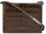 Victoria Beckham crocodile effect shoulder bag