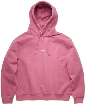 Acne Studios Classic Hooded Sweatshirt, Violet Pink