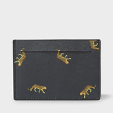 Paul Smith Men's Black 'Leopard' Print Saffiano Leather Credit Card Holder