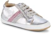Old Soles Baby Girl's & Little Girl's Iggy Glitter Stripe Metallic Sneakers