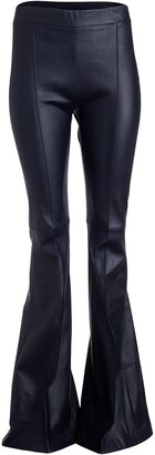 Rosetta Getty Mid-Rise Flared Trousers