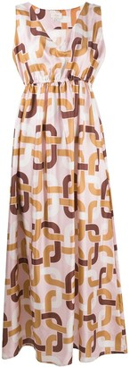 Altea Geometric-Print Maxi Dress