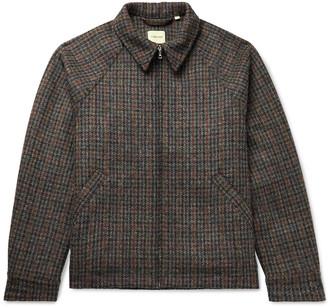 De Bonne Facture Houndstooth Wool-Tweed Jacket