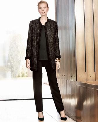 Caroline Rose Washable Microfiber Slim Pants, Women's