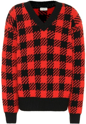 Dries Van Noten Checked wool-blend sweater