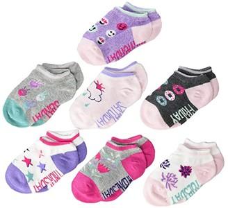 Stride Rite 7-Pack DeAnn Days of the Week No Show Socks (Infant/Toddler/Little Kid/Big Kid) (Multi) Girls Shoes