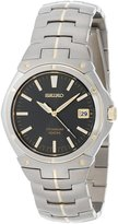 Seiko Men's SGEB34 Dress Two-Tone Dial Watch