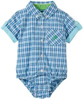Andy & Evan Checkmate Shirtzie (Baby) - Aqua 18-24 Months