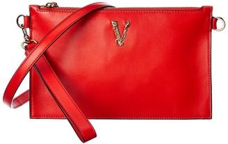 Versace Virtus Leather Clutch