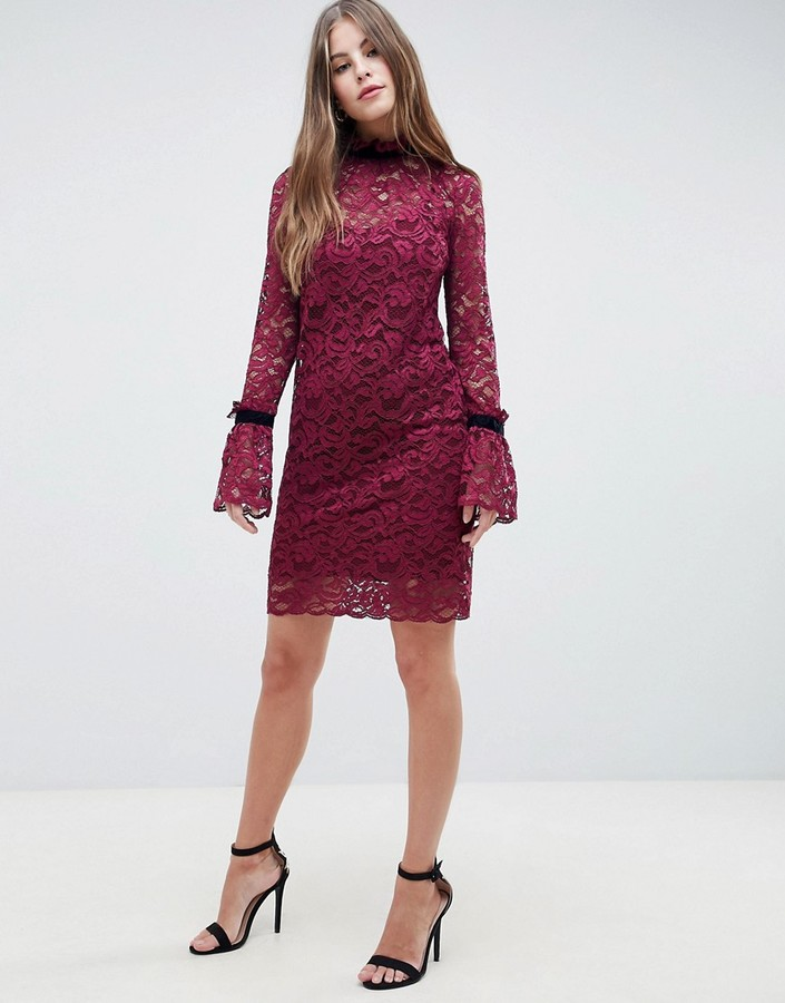 Thumbnail for your product : Hope & Ivy Shift Lace Dress