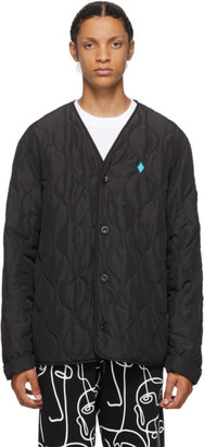 Marcelo Burlon County of Milan Black Quilted Cross Jacket
