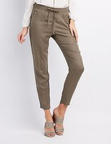 Charlotte Russe Zipper Pocket Jogger Pants