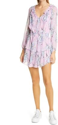 LoveShackFancy Popover Floral Long Sleeve Minidress