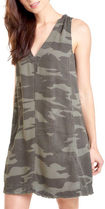 Splendid Gemma Sleeveless Camo-Print Dress