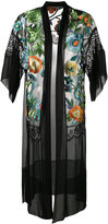Alberta Ferretti floral embroidered sheer kimono - women - Silk/Polyamide - 42