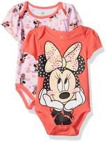 Disney Girls' Minnie Mouse Adorable Soft 2 Pack Bodysuits