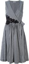 P.A.R.O.S.H. striped v-neck dress - women - Cotton/Polyamide/Spandex/Elastane - M