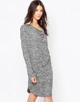 Ichi Long Sleeve Jersey Dress With Drape Neck