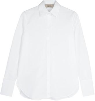MARK KENLY DOMINO TAN Bertine White Poplin Shirt