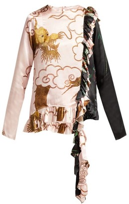 By Walid Nil Antique-silk Blouse - Womens - Pink Multi