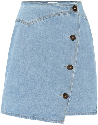 Nanushka Amita denim wrap skirt
