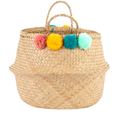 Marie Chantal Pom Pom Woven Bag