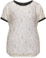 Junarose Plus Size Colour contrast lace top