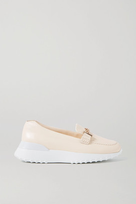 Tod's Fondo Sport Leather Loafers - Cream